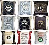 Подушка с логотипом в салон авто, госномером, подголовники автомобильные, автоаксессуары, фото 6