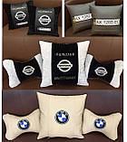 Подушка с логотипом в салон авто, госномером, подголовники автомобильные, автоаксессуары, фото 9