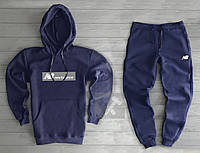 Спортивный мужской костюм New Balance (Нью Баланс), темно-синий, код OW-2040