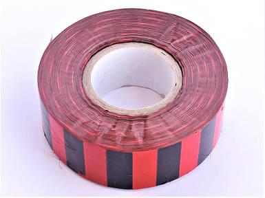 Полоса Gieffe для обозначения растений, 2,5см*100м красно-чёрная