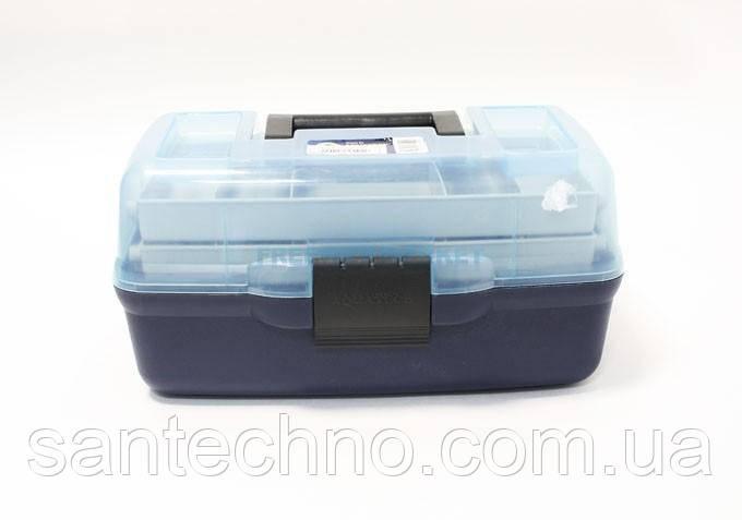 Ящик рибальський 2-х поличний Aquatech 1702 прозора кришка