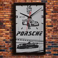 Настенные часы Porsche, индивидуальная работа.