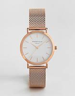 Годинники наручні женскіеRosefield №3193 рожеве золото, кварц, від батарейок, стрілочні, метал, Годинники жіночі, Наручний жіночий годинник