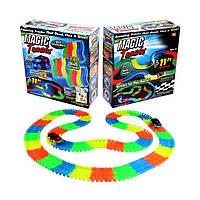 Гнучка гоночна траса для машинок Magic Track 220 (Меджік Трек) 220 деталей + 2 машинки