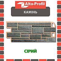 Фасадная панель Альта-Профиль Камень 1130х470х20 мм Серый