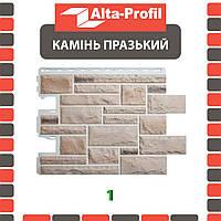 Фасадная панель Альта-Профиль Камень Пражский 795х591х20 мм цвет 01