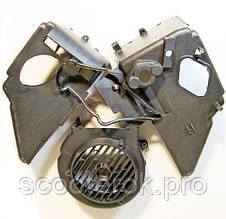 Кожух охлаждения двигателя из 3-х частей 4т GY6- 125-150