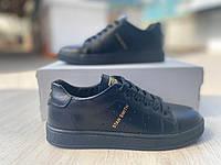 Підліткові шкіряні кеди Adidas Stan Smith, чорні (35-39 р.)