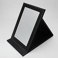 Зеркало 25,5х18 см в черном цвете экокожа