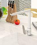 Змішувач для кухні Invena Dokos BZ-19-L02 білий (667670383), фото 2