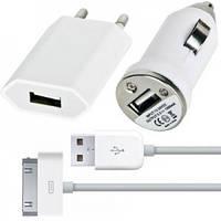 Универсальная зарядка iPhone 5 (220V+12V)