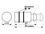 Крепления для стекла одностороннее с винтом GIFF хром -10шт, фото 5