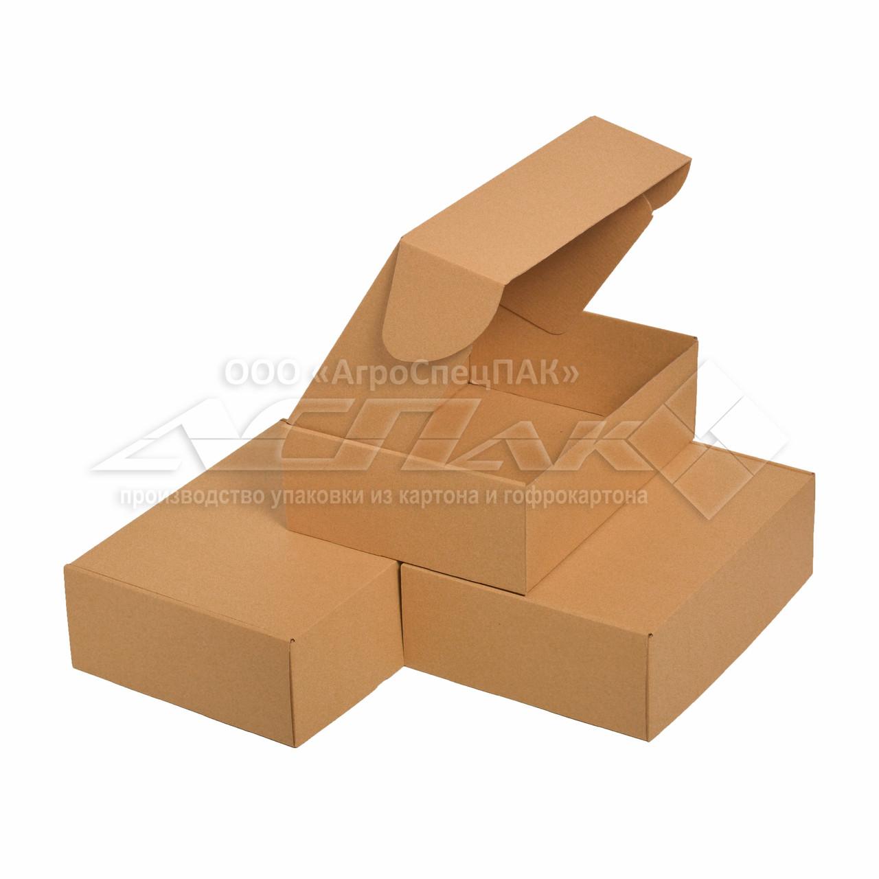 Упаковочные коробки 320x240x105 бурые. Крафтовые коробки.