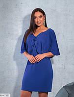 Красивое короткое женское платье больших размеров 46-60 арт 7098