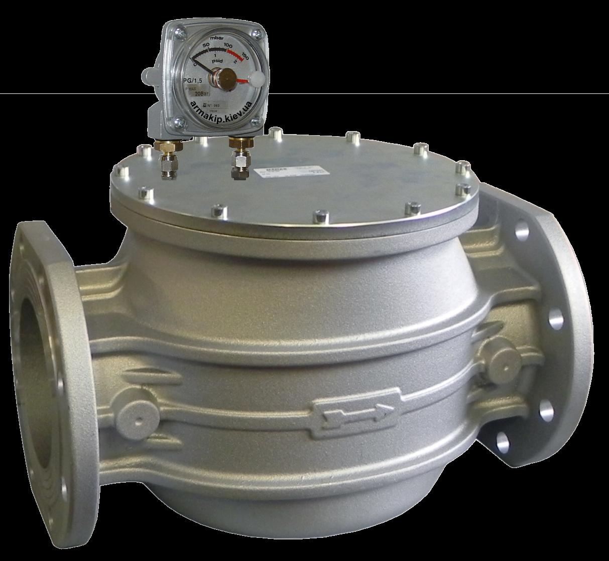 Фильтр газовый FM, DN125, P=6 bar, MADAS (Мадас) с индикатором перепада давления