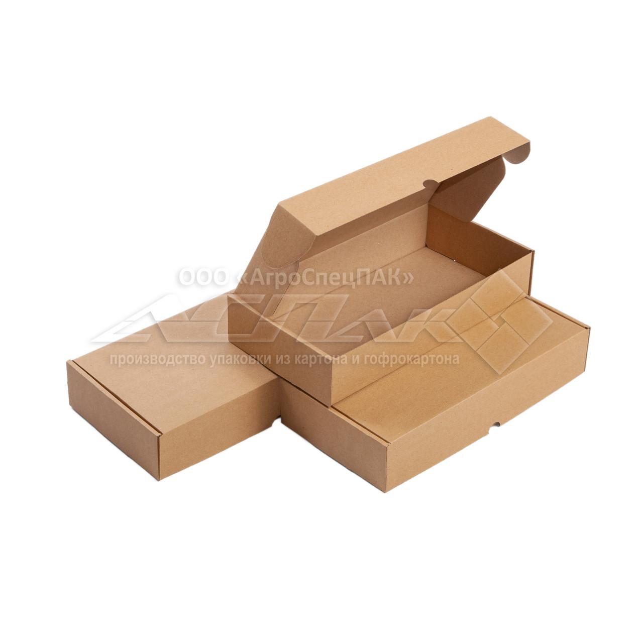 Самосборные коробки 286*148*55 бурые