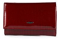 Жіночий компактний лаковий місткий гаманець FUERDANNI art. 855020 червоний, фото 1