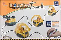 Індуктивний автомобіль Inductive Truck від 5років, пластик, від батарейок LR44, дитячі іграшки, дитячі машинки