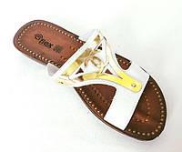 Женские Тапочки Шлёпанцы Сланцы Белые (размеры: 36)
