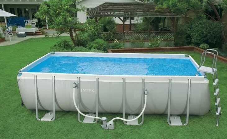 Каркасный бассейн Intex Rectangular Ultra Frame Pool 28352 549 см х 274 см х 132 см с аксессуарами