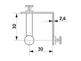 Зєднувач для скла потрійний GIFF хром, фото 2