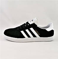 Кроссовки Adidas Gazelle Чёрные Мужские Адидас (размеры: 41,42,43,44,45) Видео Обзор
