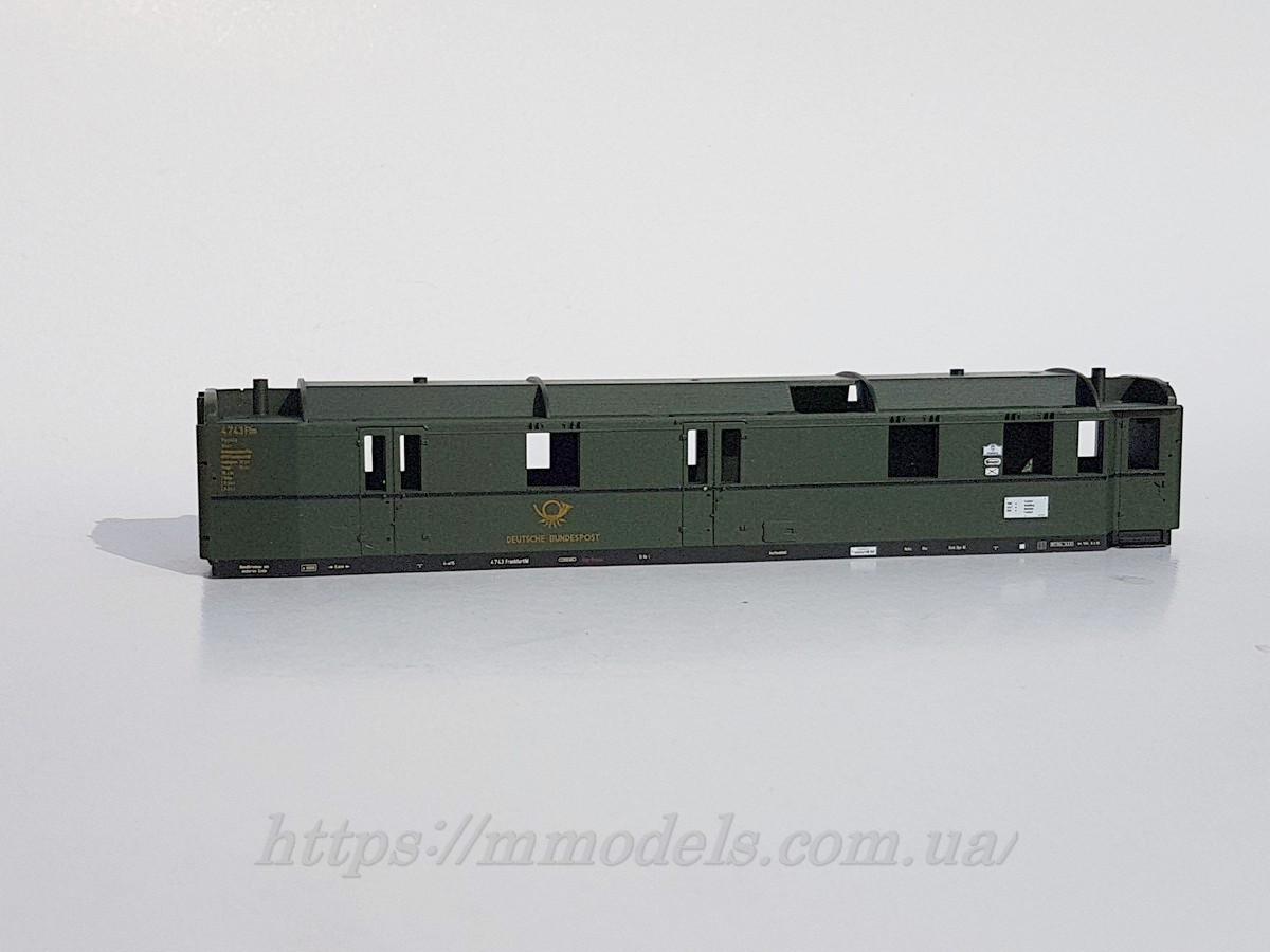 Piko модель кузова почтового вагона DB, масштаба H0, 1:87