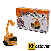 Індуктивний іграшковий автомобіль Inductive Truck Бур від 5років, пластик, від батарейок LR44, дитячі іграшки, дитячі машинки