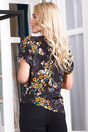 Блузка 624 черная, фото 2