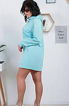 Худі жіночий з капюшоном і кишенею, різні кольори, р. 44,46,48,50,52,54,65,58,60 код 1017О, фото 2