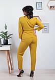 Костюм брючный женский, блуза с брюками, повседневный стиль р.46,48,50,52,54,56,58,60 код 1023О, фото 2