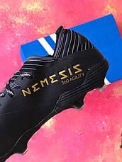 Бутсы футбольные Adidas Nemeziz 19.1 черные, фото 3