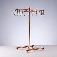 Подставка для украшений медная Карусель с крючками размер 28х18см (круглая, крутится)
