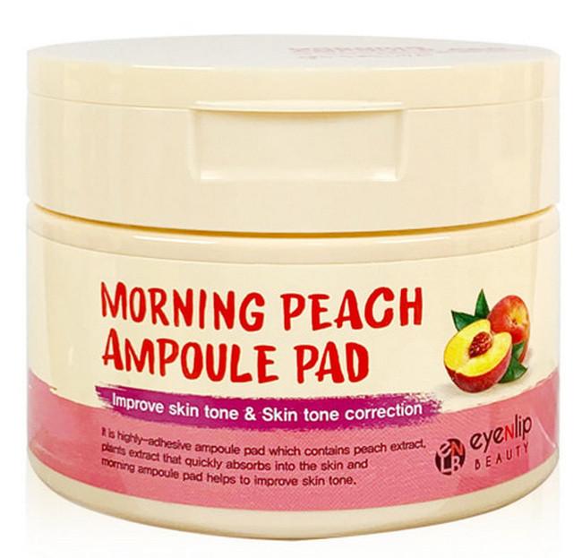 Пилинг-подушечки для утреннего ухода Morning Eyenlip Ampoule Pad с экстрактом персика