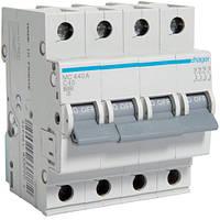 Автоматический выключатель 4P 6kA C-40A 4M Hager, фото 1