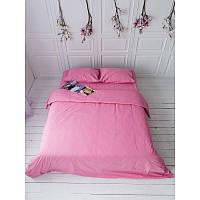 Однотонный комплект постельного белья Пыльная роза, поплин Lux, разные размеры