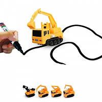 Індуктивна іграшкова машинка Inductive Truck від 5років, пластик, від батарейок LR44, дитячі іграшки, дитячі машинки