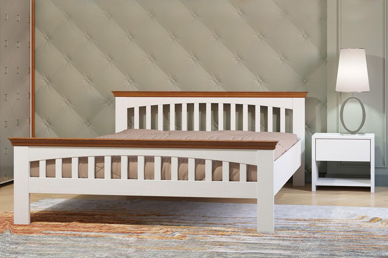 Деревянная двуспальная кровать Лаванда Камелия/Camelia