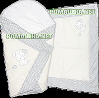 Летний конверт одеяло плед 75*75 на детский на выписку новорожденных из роддома тонкий лето 3077 Бежевый 1