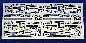 Немецкое стрелковое оружие Второй мировой войны (KAR.98 P-08 P-38 MP-38 MP-44). 1/72 ACE PE7226