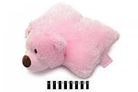 Ведмедик-подушка (маленька) рожевий B038 37 см (шт.)