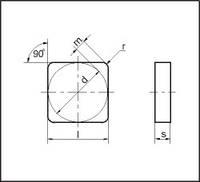 Пластина твердосплавная сменная 03111-120308 ВК8