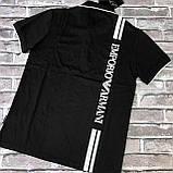 Футболка Чол. 2XL(р) чорний 219 Armani Туреччина Літо-C, фото 2