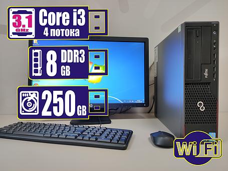 Системный блок компьютер ПК Fujitsu Core i3/8Gb DDR3/250Gb HDD +Bonus WiFi, фото 2