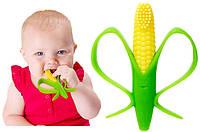 Прорезыватель для зубов. Детская зубная щетка-прорезыватель Кукуруза