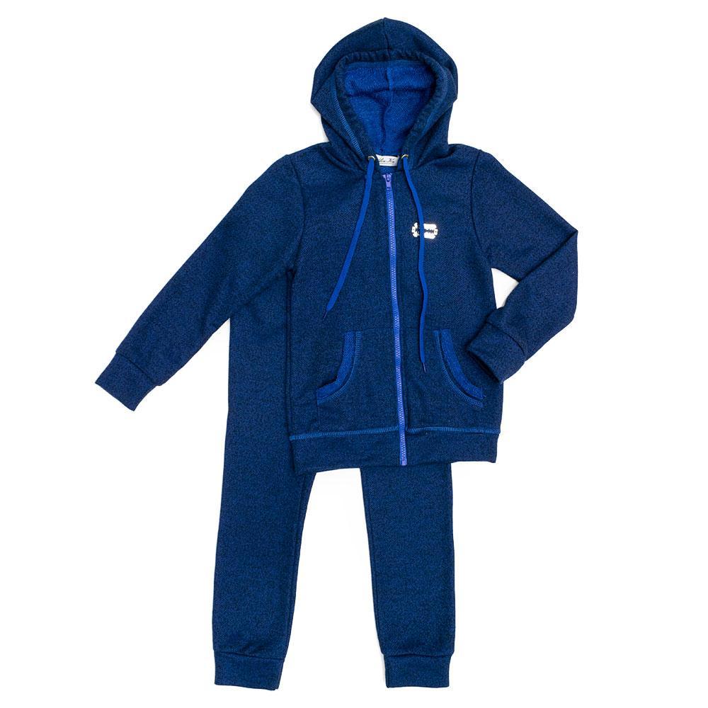 Костюм спортивный для девочек Delfinka 128  синий 980143