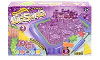 Набір креативної творчості Danko Toys Кінетичний пісок KidSand 1600 г + пісочниця KS-02-01