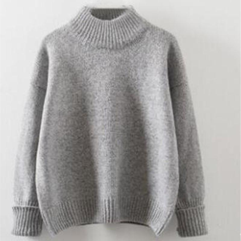 Женский меланжевый стильный свитер  серый