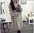 Женский удлиненный теплый свитер-туника, темно-зеленого цвета, фото 3