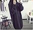 Женский удлиненный теплый свитер-туника, темно-зеленого цвета, фото 4
